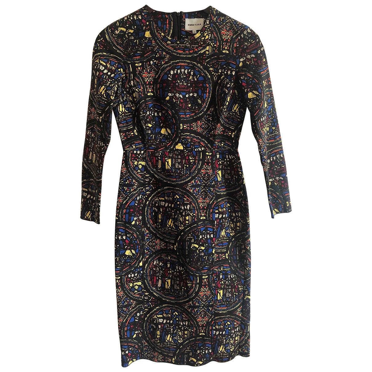 Bimba Y Lola - Robe   pour femme en coton - elasthane - multicolore