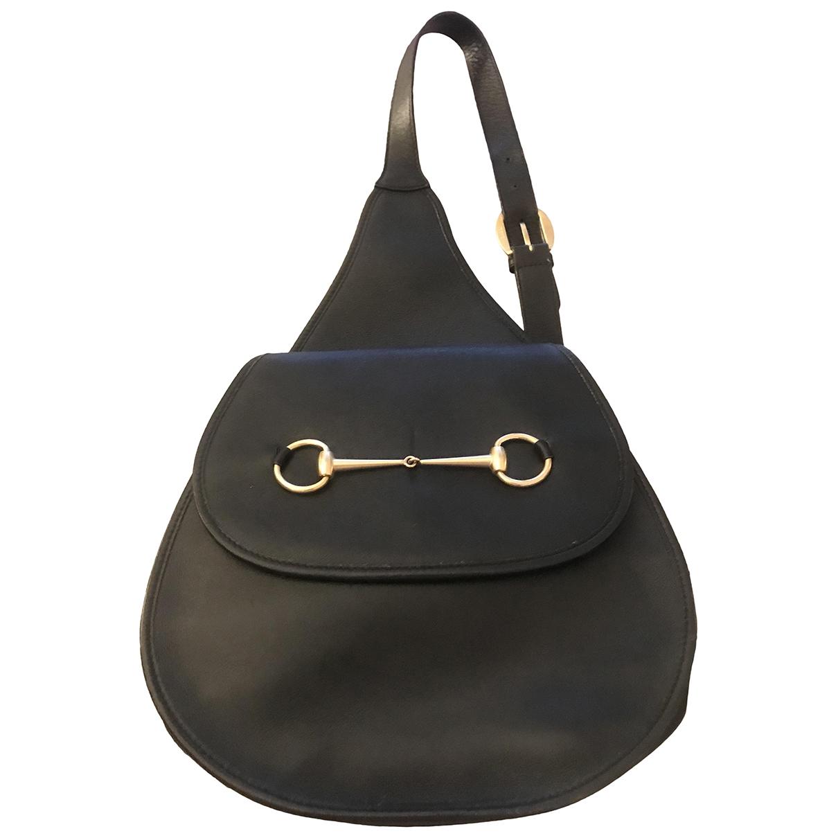 Gucci - Sac a dos   pour femme en cuir - noir