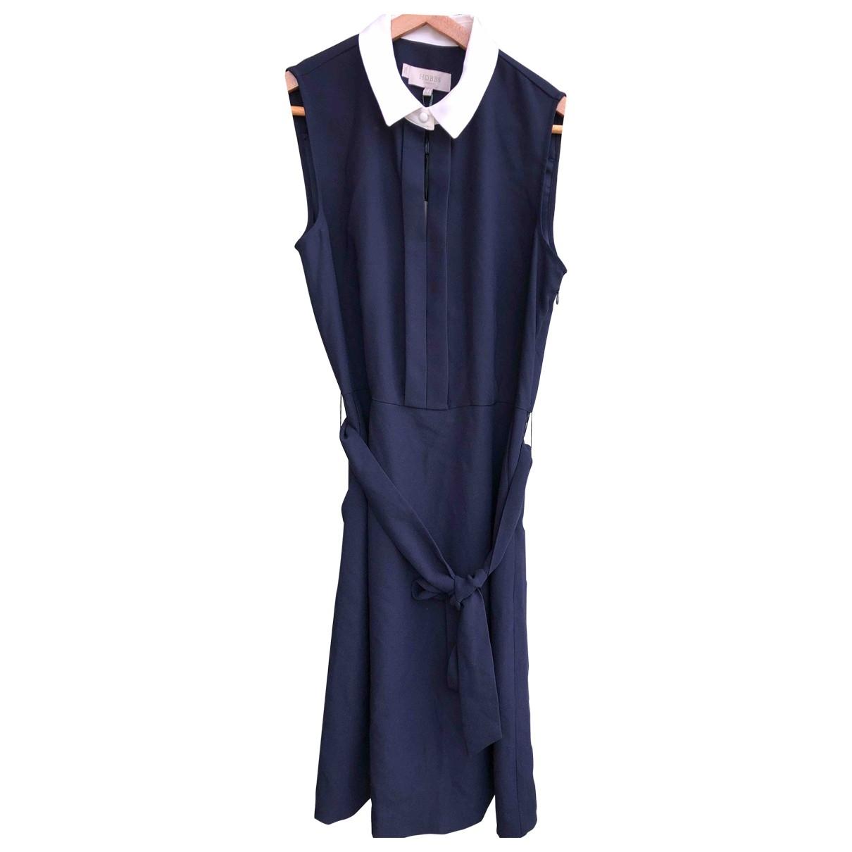 Hobbs \N Kleid in  Blau Synthetik