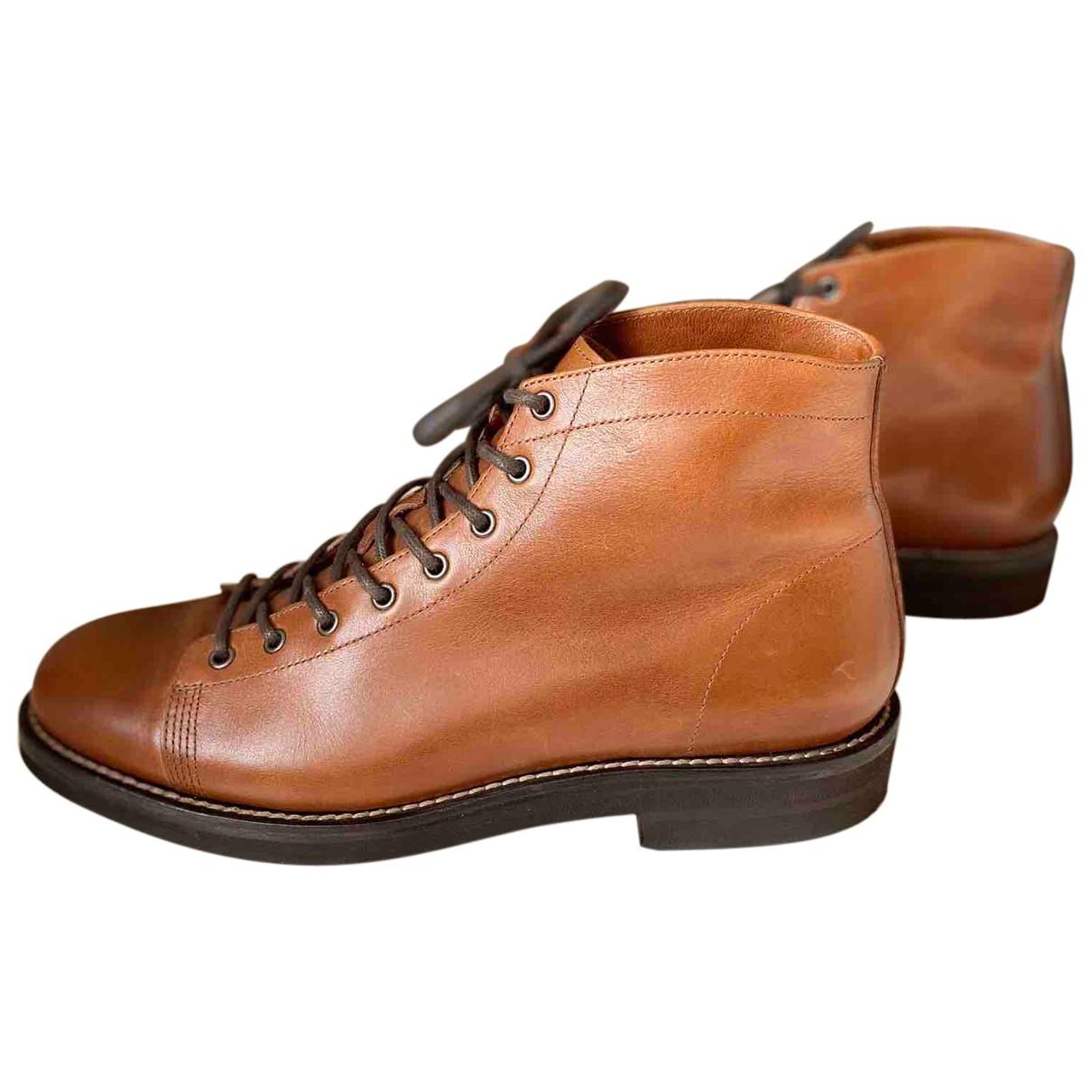 Brunello Cucinelli N Beige Leather Boots for Men 45 EU