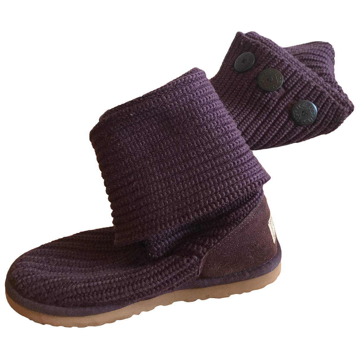 Ugg \N Purple Cloth Boots for Women 39 EU