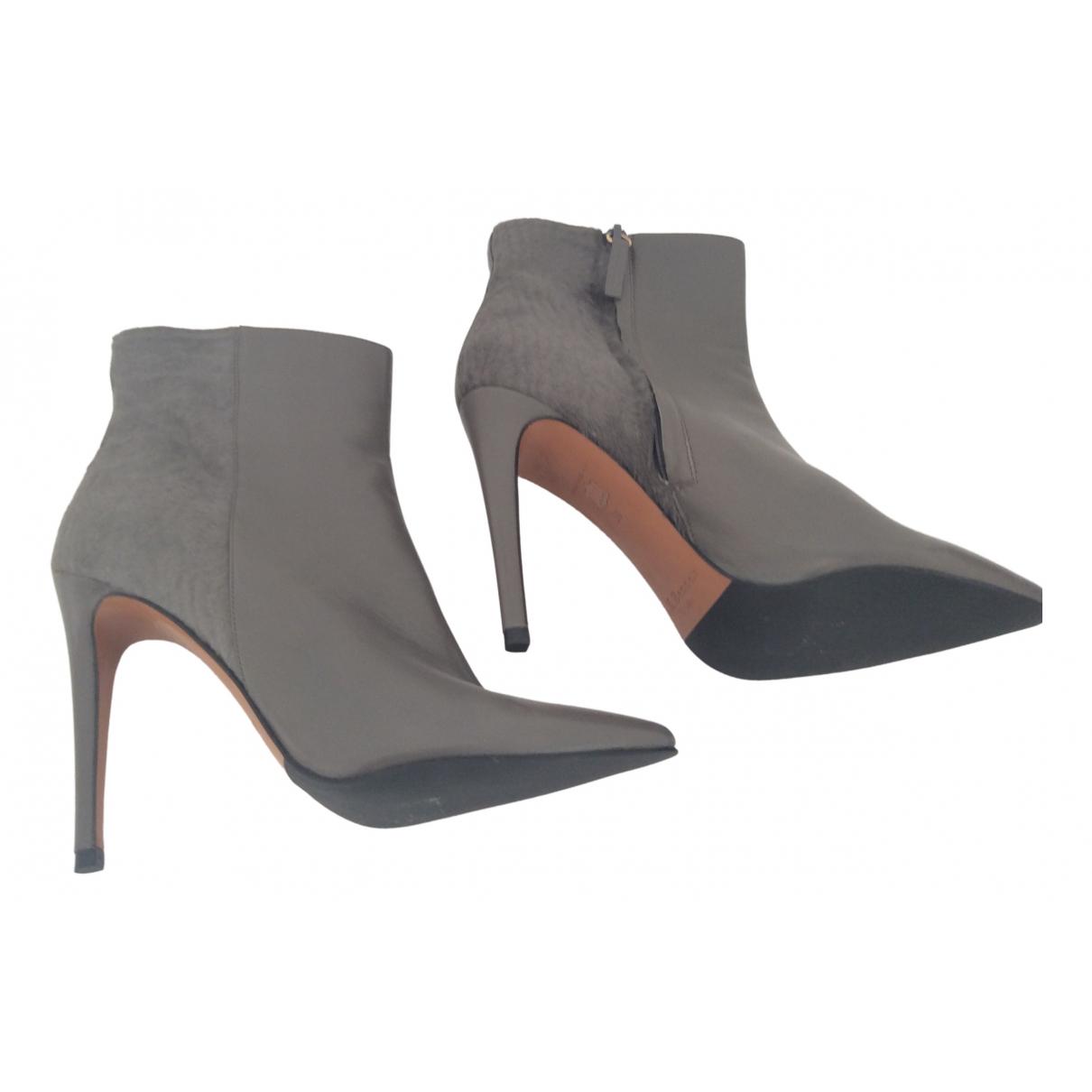 Lk Bennett \N Grey Leather Ankle boots for Women 6 UK