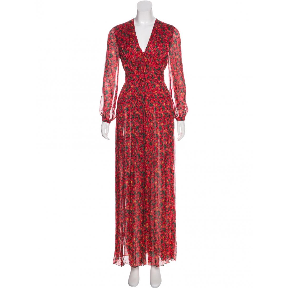 Raquel Diniz \N Kleid in  Rot Seide