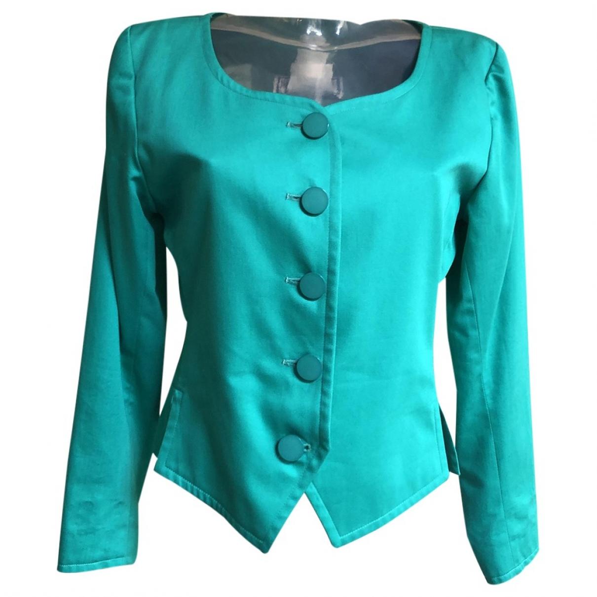 Yves Saint Laurent \N Green Cotton jacket for Women 38 FR