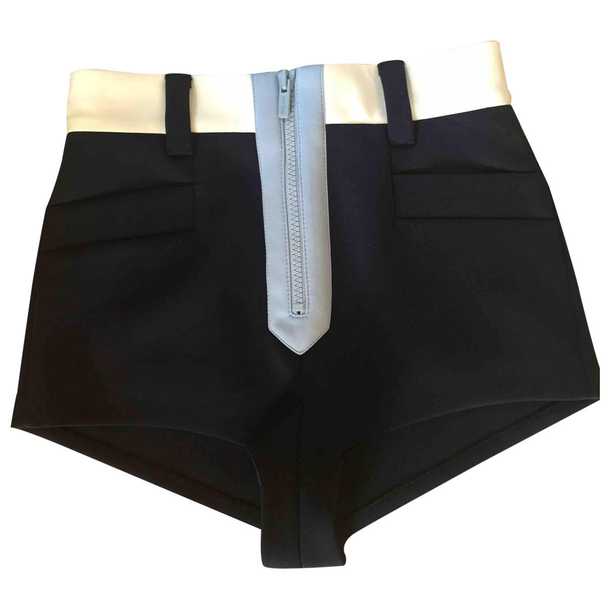 Miu Miu \N Shorts in  Blau Polyester
