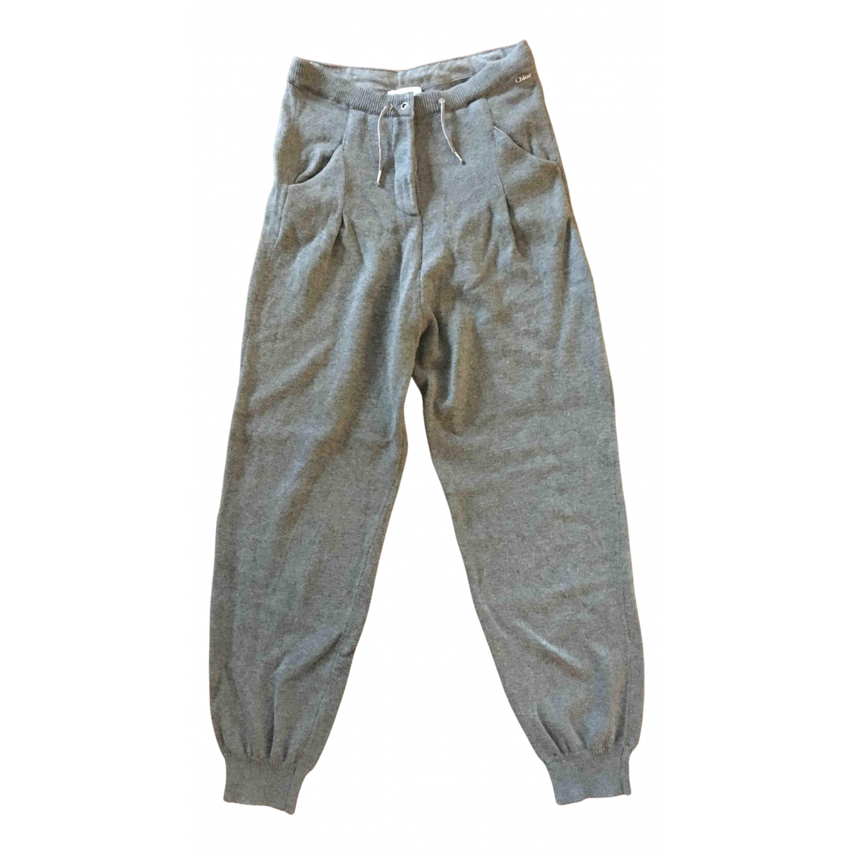 Chloe - Pantalon   pour enfant en coton - gris