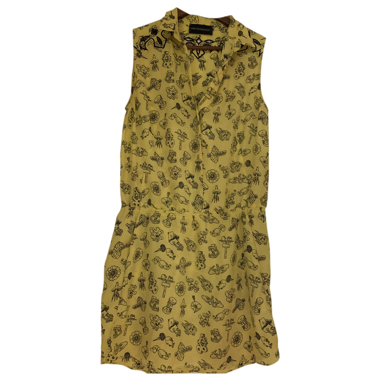 Zadig & Voltaire \N Kleid in  Gelb Seide