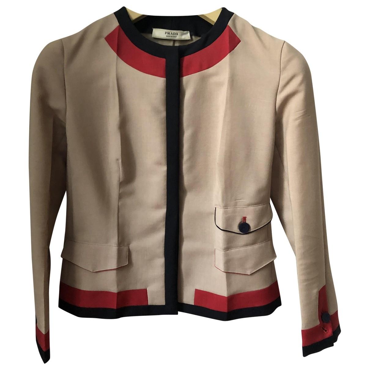 Prada \N Camel Wool jacket for Women 38 IT