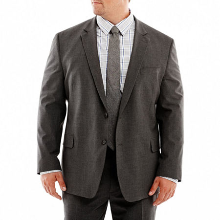 JF J. Ferrar Stretch Gabardine Suit Jacket-Big & Tall, 56 Big Long, Gray