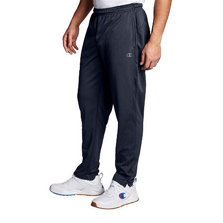 Champion Double Dry Mens Regular Fit Workout Pant, Large , Blue