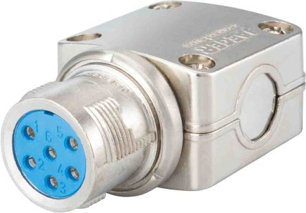 Jaeger 12 Way Cable Mount MIL Spec Circular Connector Plug, Pin Contacts, MIL-DTL-5015