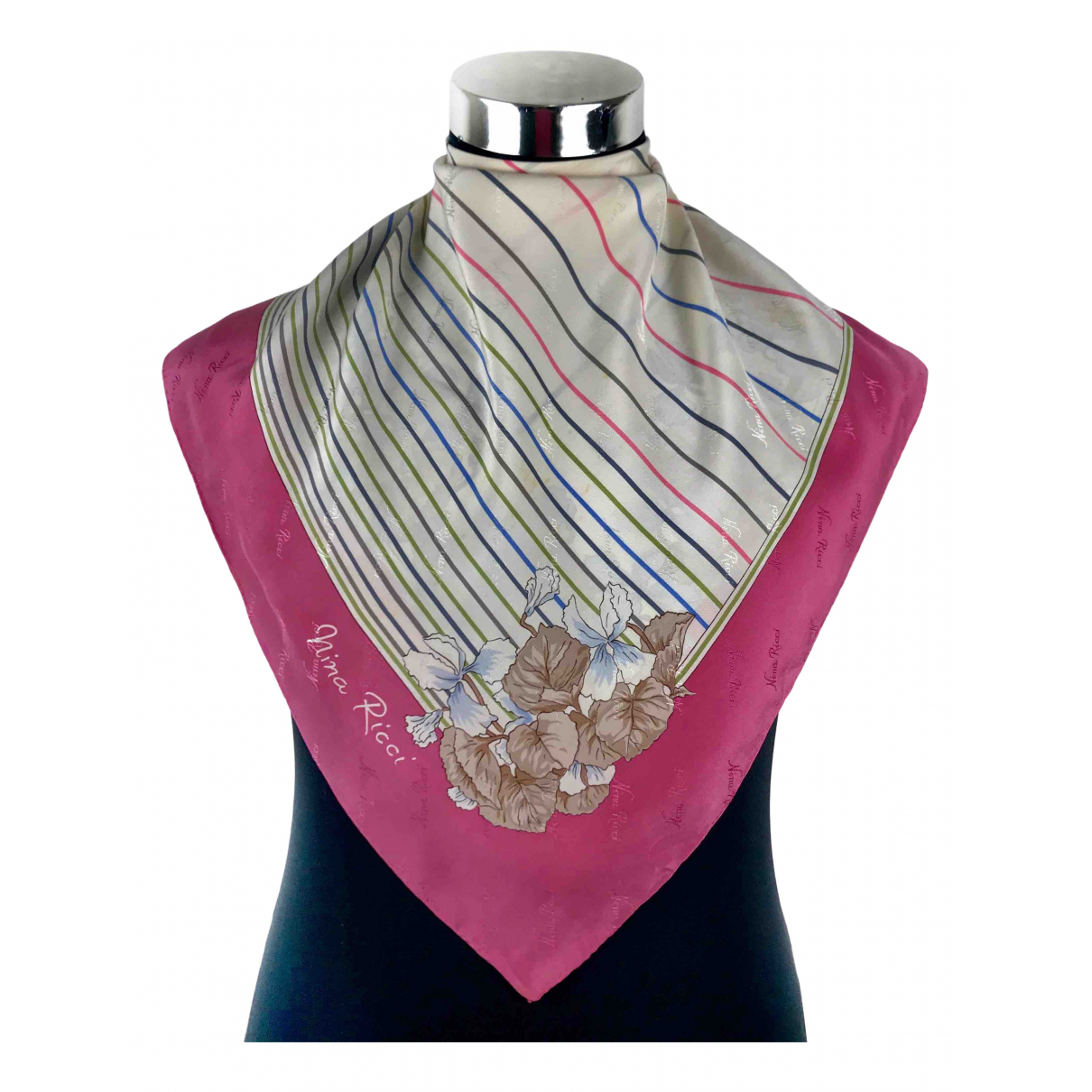 Nina Ricci \N Pink Silk scarf for Women \N
