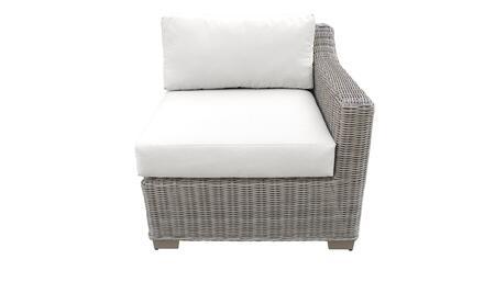 TKC038b-LAS-WHITE Left Arm Chair - Beige and Sail White