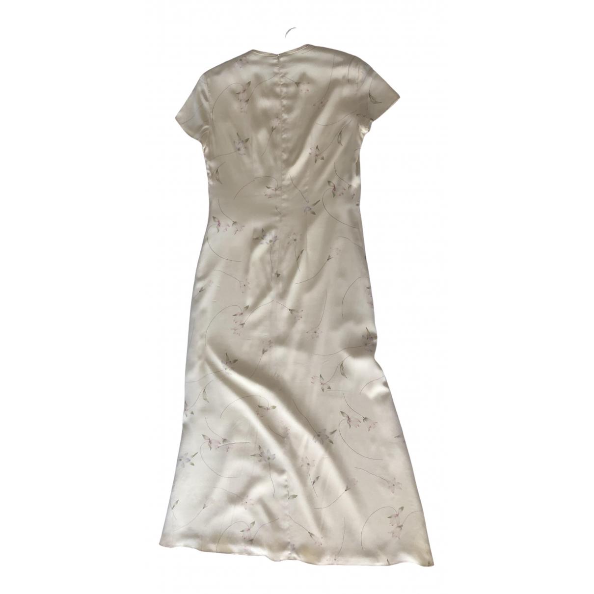Ralph Lauren \N Kleid in  Gelb Seide