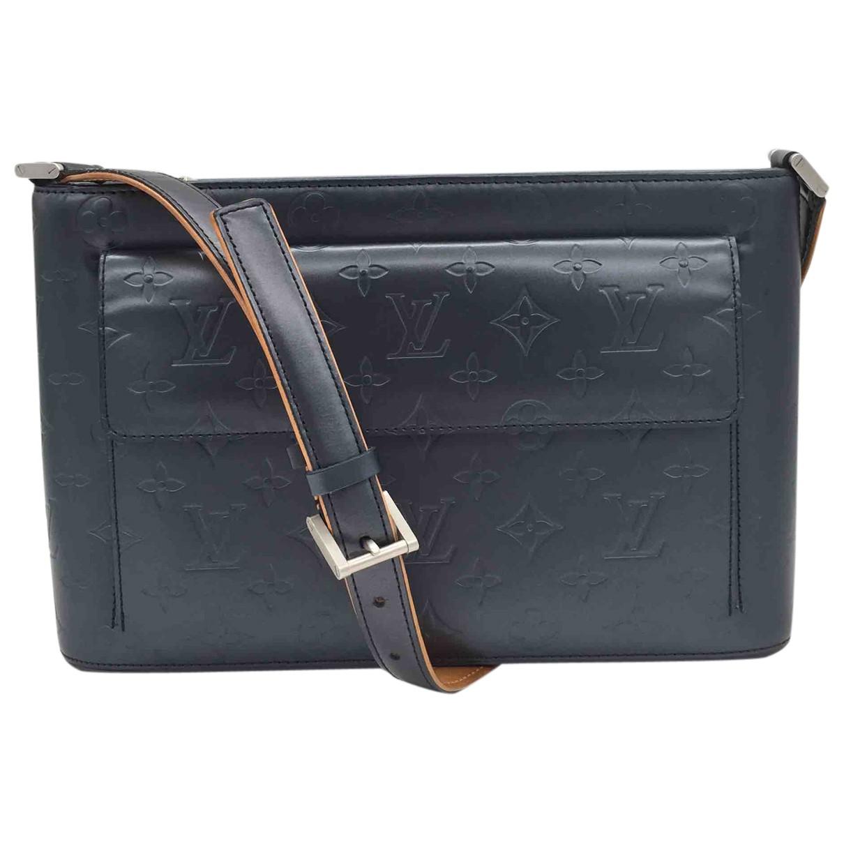 Louis Vuitton Allston Handtasche in  Marine Leder