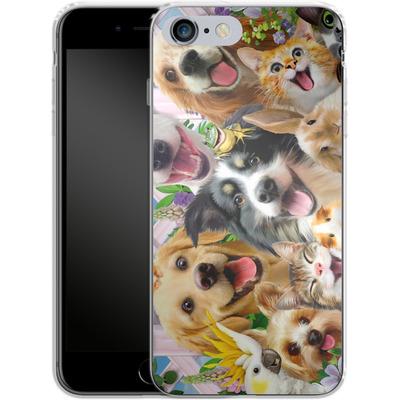 Apple iPhone 6s Plus Silikon Handyhuelle - Selfie Backyard Pals von Howard Robinson