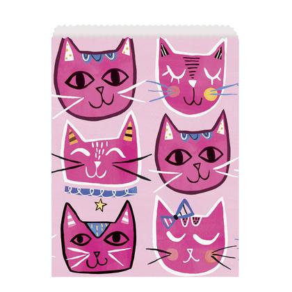 Pink Cat Paper Goodie Bags, 8ct Pour la fête d'anniversaire