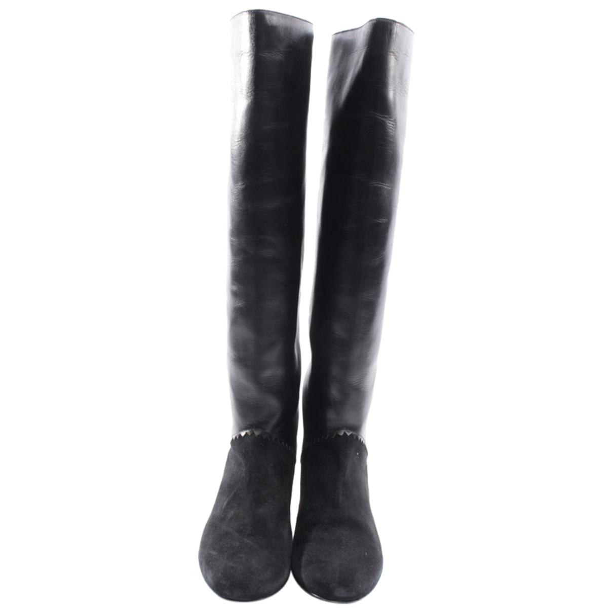 Schumacher - Bottes   pour femme en cuir - noir