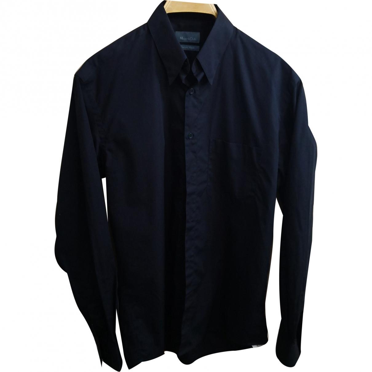 Massimo Dutti - Chemises   pour homme en coton - noir