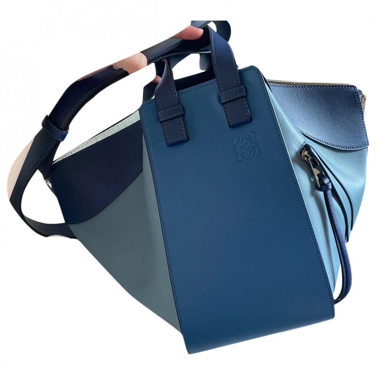 Loewe Hammock Blue Leather handbag for Women \N