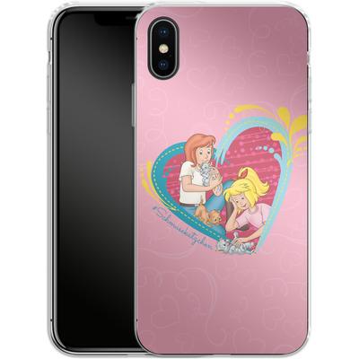 Apple iPhone X Silikon Handyhuelle - Bibi und Tina Schmusekaetzchen von Bibi & Tina