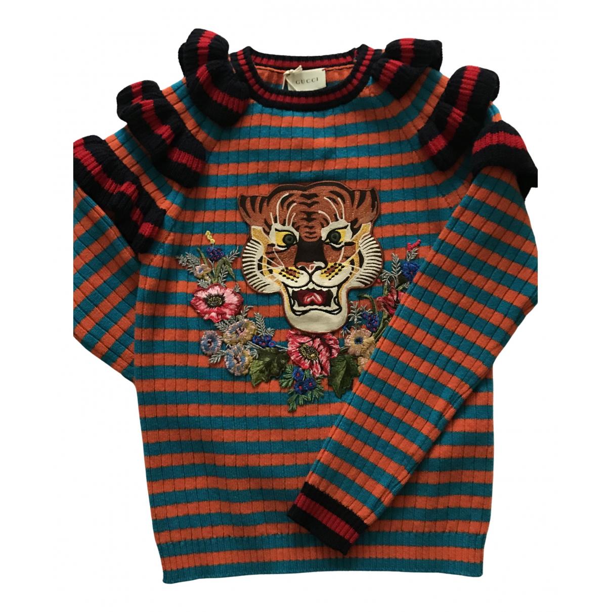Gucci - Pull   pour enfant en laine - multicolore