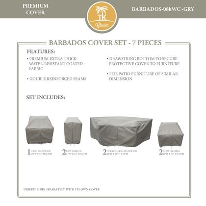 BARBADOS-08kWC-GRY Protective Cover Set  for BARBADOS-08k in