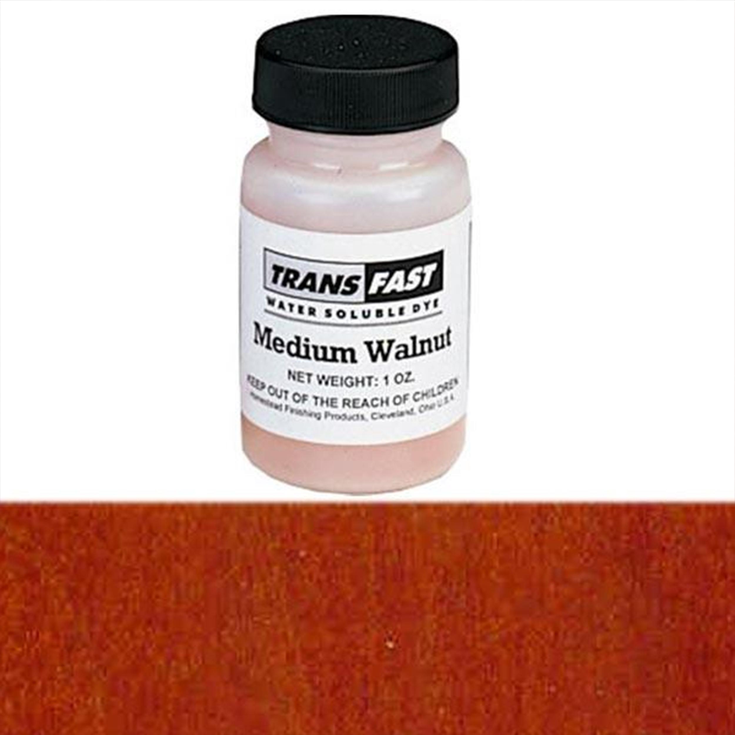 Medium Walnut Transfast Water Soluble Dye 2 oz