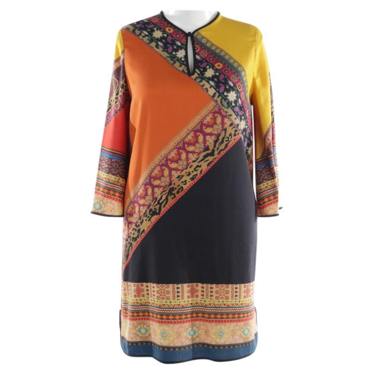 Etro \N Multicolour Wool dress for Women 40 FR