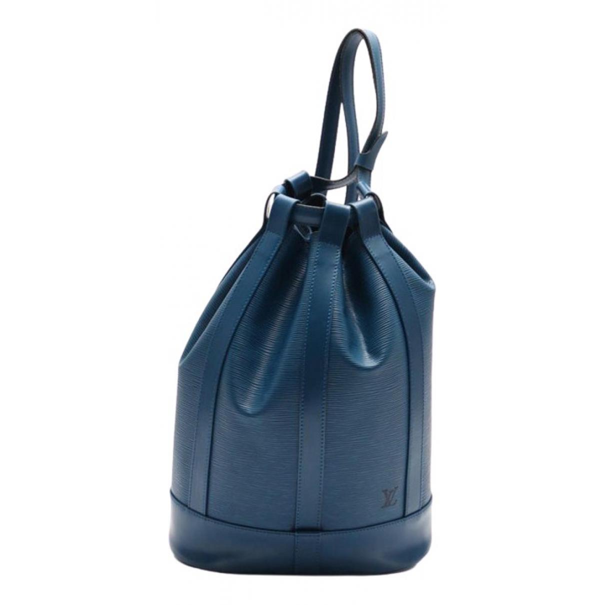 Louis Vuitton Randonnée Blue Leather handbag for Women \N