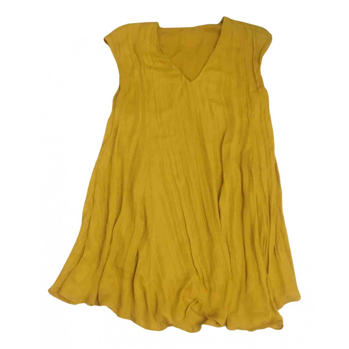 H&m Studio \N Kleid in  Gelb Polyester