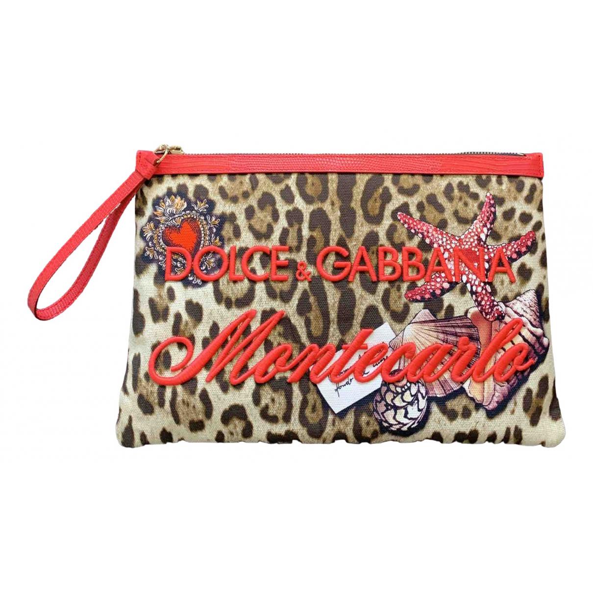 Dolce & Gabbana \N Clutch in  Braun Leinen
