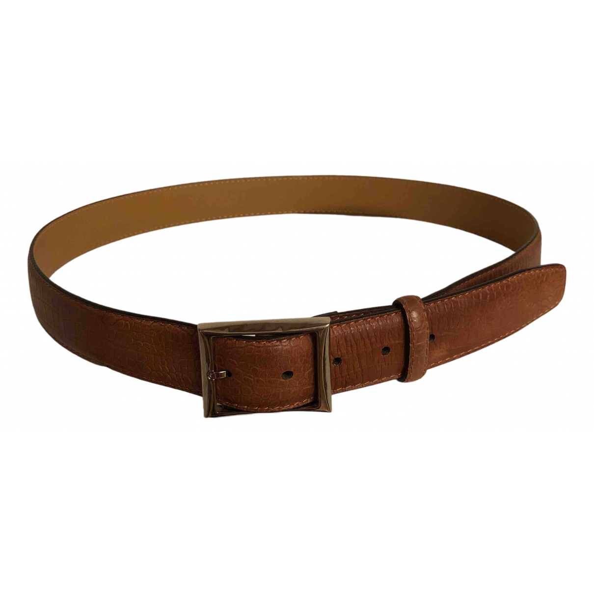 Berluti N Camel Leather belt for Men 100 cm