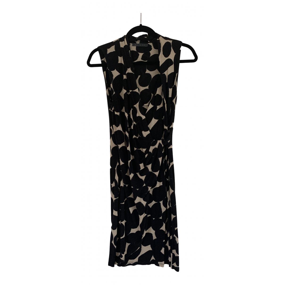 Velvet \N Kleid in  Schwarz Viskose
