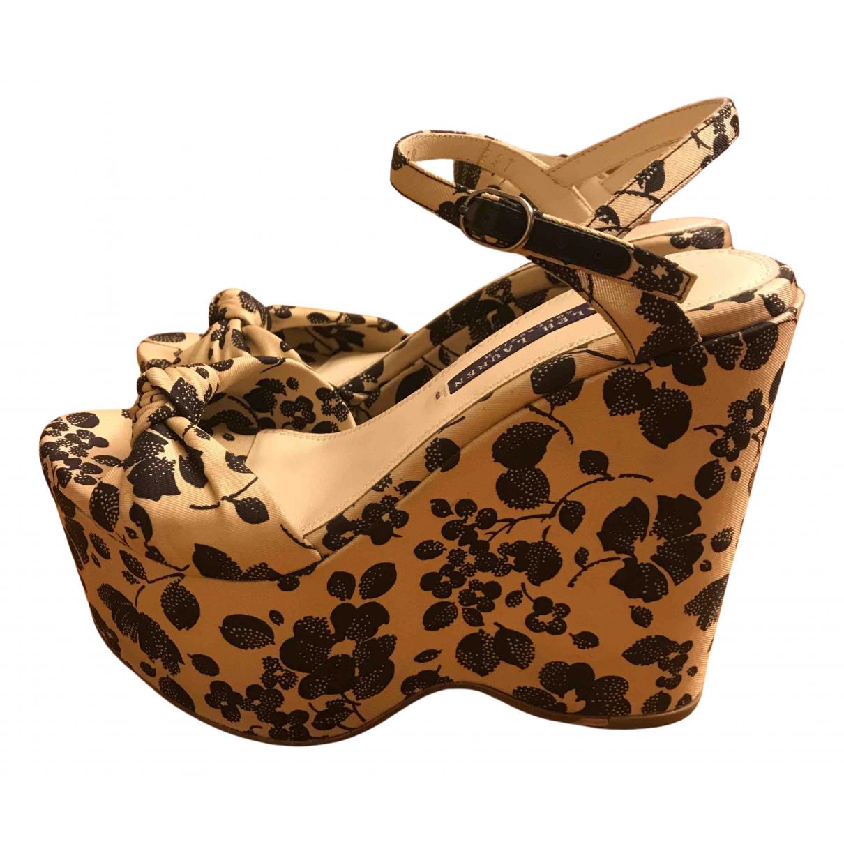 Ralph Lauren Collection \N Beige Cloth Sandals for Women 35.5 EU