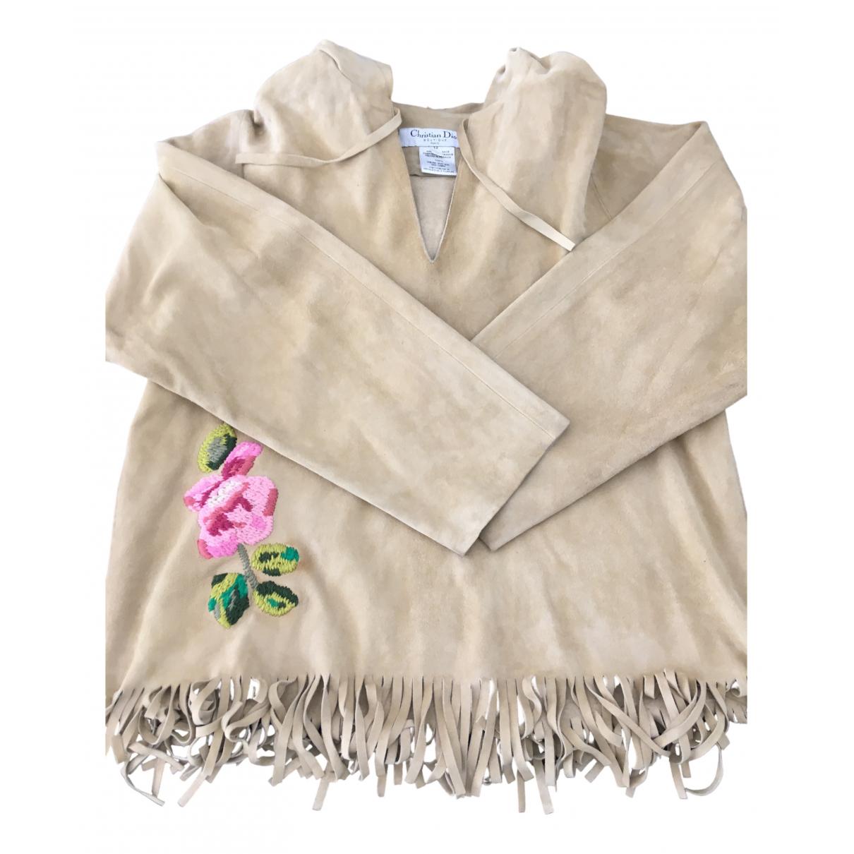 Dior - Pull   pour enfant en cuir - beige