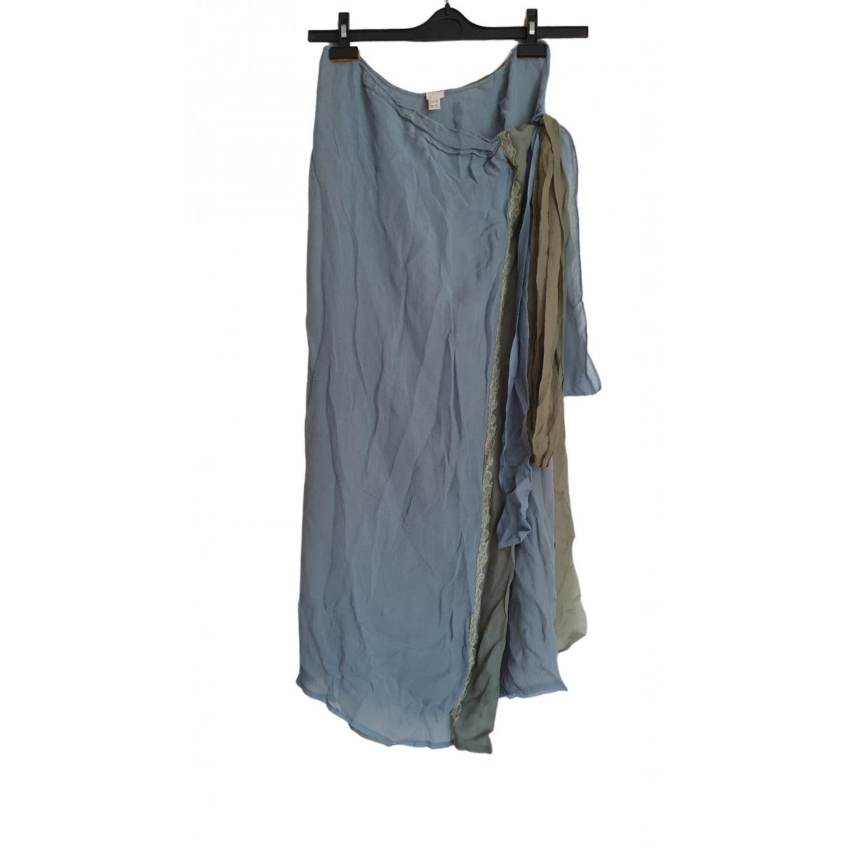 Ermanno Scervino \N Turquoise Silk Swimwear for Women 42 IT