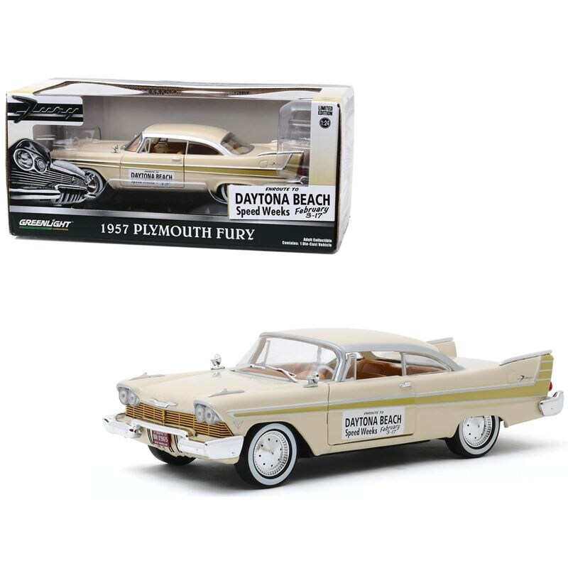 1957 Plymouth Fury Cream with Gold Stripes