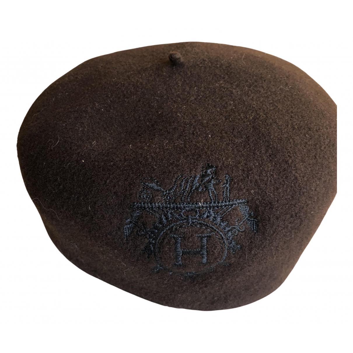 Hermès N Brown Wool hat for Women 56 cm