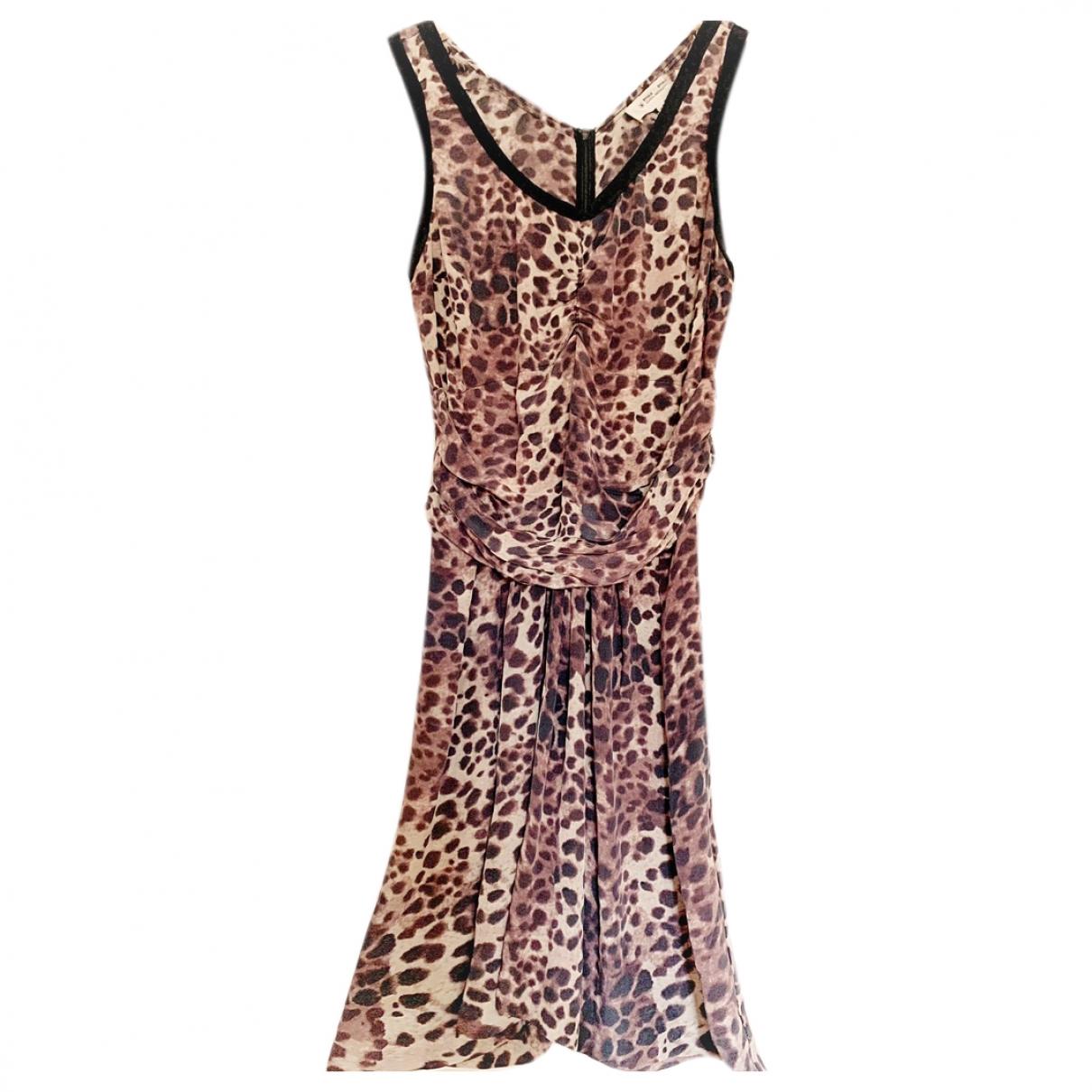 Isabel Marant Etoile \N Camel Silk dress for Women 2 US