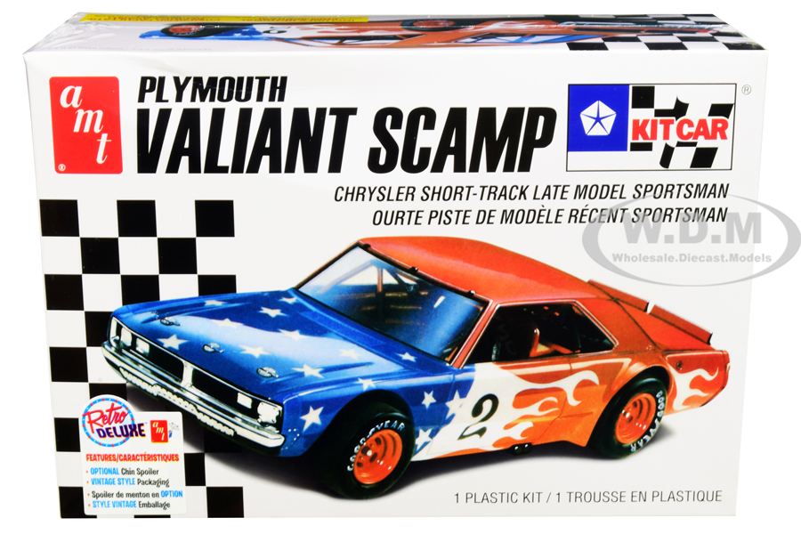 Skill 2 Model Kit Plymouth Valiant Scamp Kit Car 1/25 Scale Model by AMT