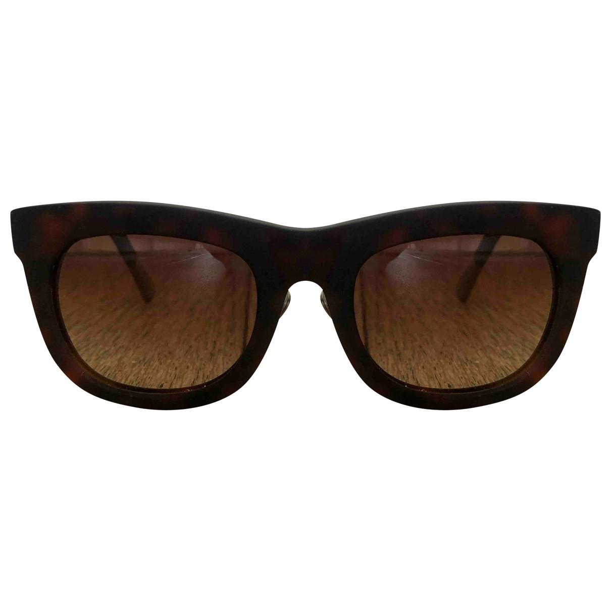 Kris Van Assche \N Brown Sunglasses for Men \N