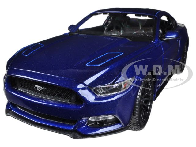 2015 Ford Mustang GT 5.0 Blue Metallic 1/18 Diecast Model Car by Maisto