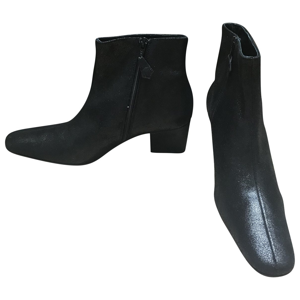 Elisabeth Stuart \N Black Leather Ankle boots for Women 40 EU