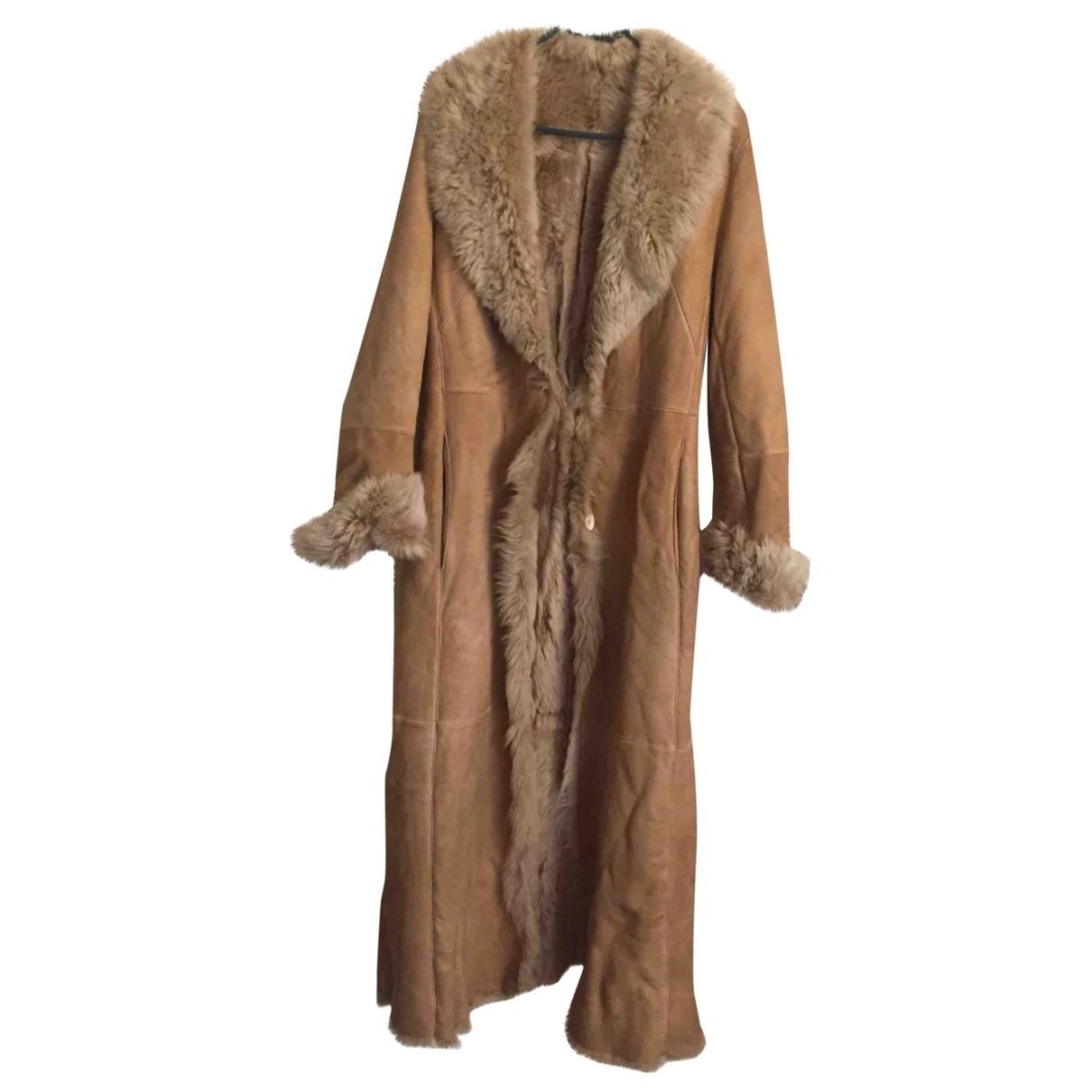- Manteau   pour femme en mouton - beige