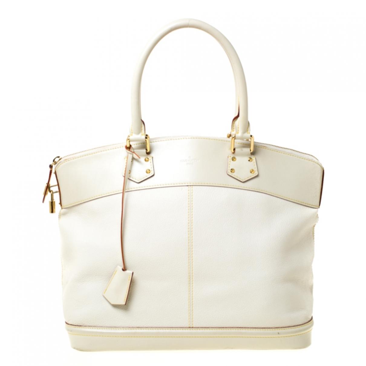 Louis Vuitton Lockit Ecru Leather handbag for Women \N