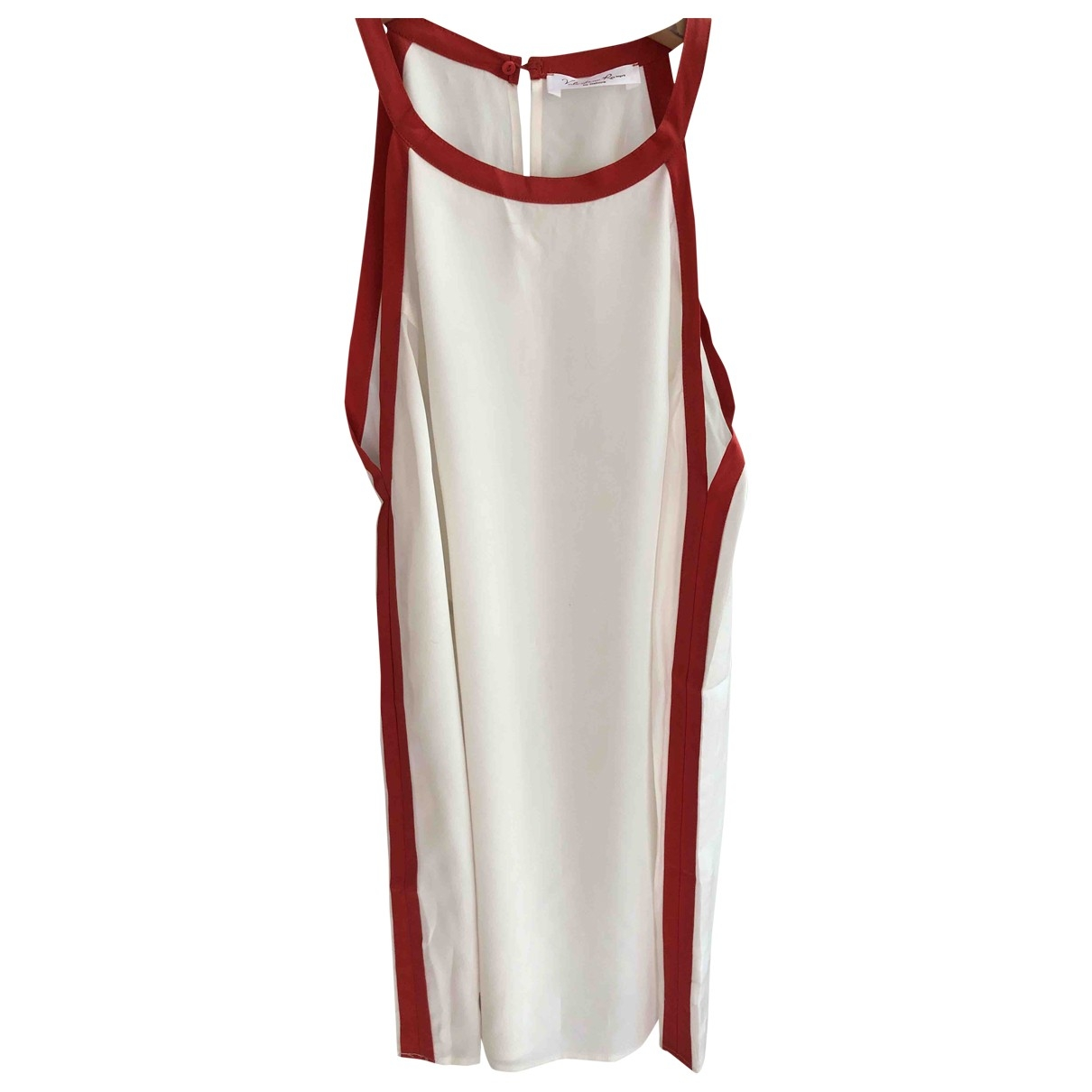Non Signé / Unsigned \N White Silk  top for Women L International