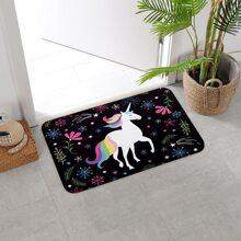 Unicorn Print Floor Mat