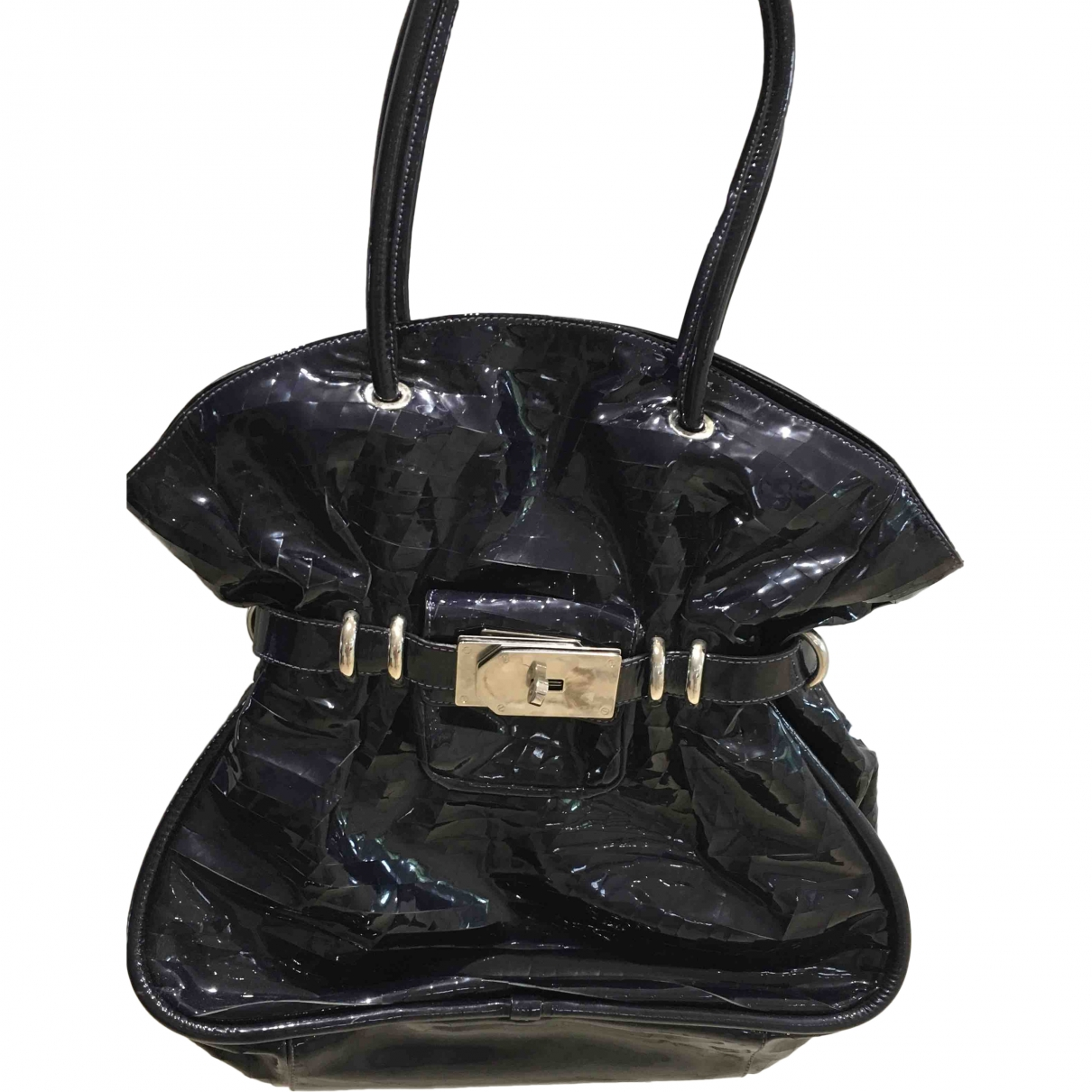 Non Signé / Unsigned \N Purple Patent leather handbag for Women \N