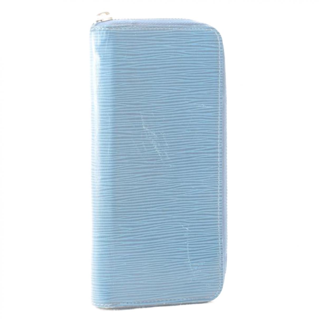 Louis Vuitton \N Blue Leather Purses, wallet & cases for Women \N